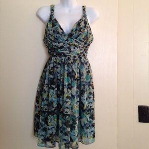 Fun, flirty BCBG chiffon dress